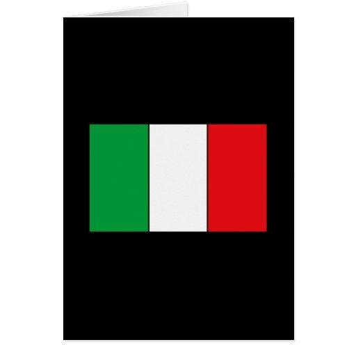 Camisetas y regalos italianos de la bandera tarjetas