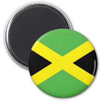 Camisetas y regalos jamaicanos de la bandera imán redondo 5 cm