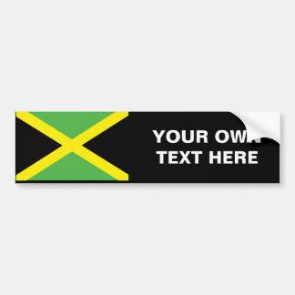 Camisetas y regalos jamaicanos de la bandera pegatina para auto