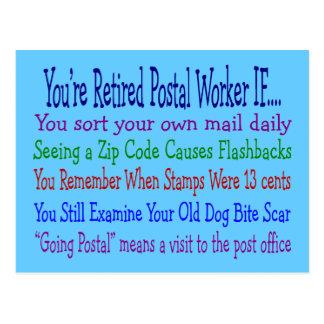 Camisetas y regalos jubilados de los refranes del  tarjetas postales