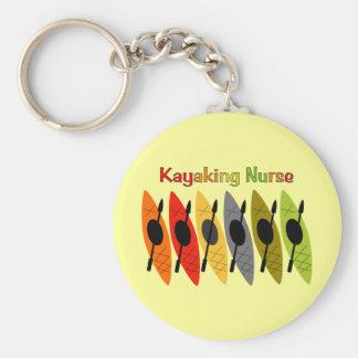 Camisetas y regalos Kayaking de la enfermera Llavero Redondo Tipo Pin