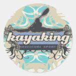 Camisetas y regalos Kayaking del deporte de la ave Etiqueta