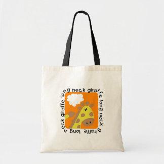 Camisetas y regalos largos de la jirafa del cuello bolsas