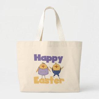 Camisetas y regalos lindos de Pascua de los pollue Bolsa Tela Grande