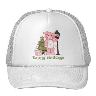 Camisetas y regalos lindos del cerdo del día de fi gorro de camionero