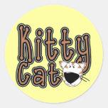 Camisetas y regalos lindos del gato del gatito pegatinas redondas