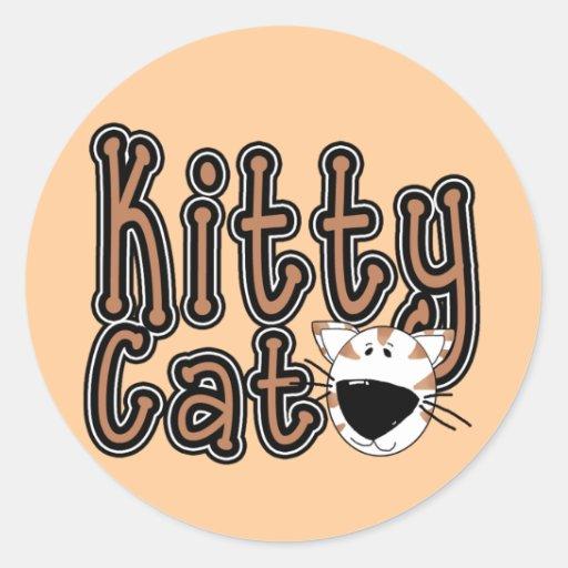 Camisetas y regalos lindos del gato del gatito etiqueta redonda