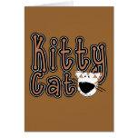 Camisetas y regalos lindos del gato del gatito tarjeton