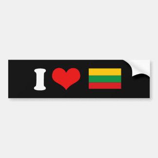 Camisetas y regalos lituanos de la bandera pegatina para auto