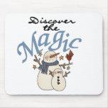 Camisetas y regalos mágicos del muñeco de nieve alfombrilla de ratones