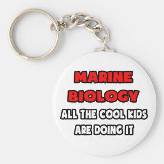 Camisetas y regalos marinos divertidos del biólogo llavero redondo tipo pin