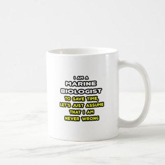 Camisetas y regalos marinos divertidos del biólogo taza de café