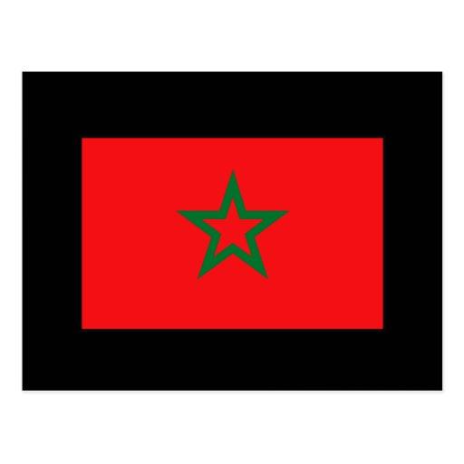 Camisetas y regalos marroquíes de la bandera postales