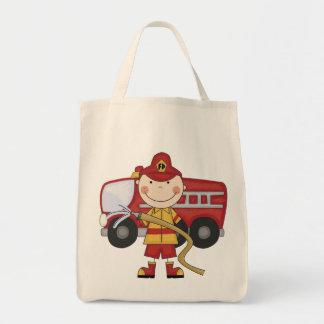 Camisetas y regalos masculinos del bombero bolsas