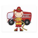Camisetas y regalos masculinos del bombero postales