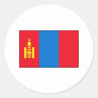 Camisetas y regalos mongoles de la bandera pegatina redonda