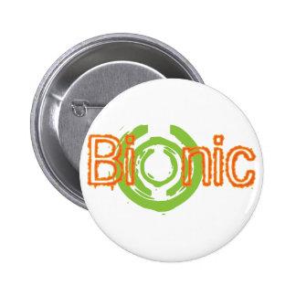 Camisetas y regalos nerviosos Bionic del logotipo Pin Redondo De 2 Pulgadas
