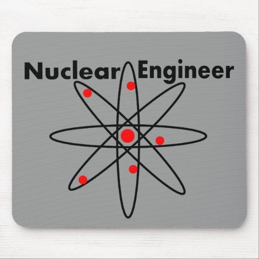 Camisetas y regalos nucleares del ingeniero alfombrillas de ratones