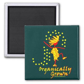 Camisetas y regalos orgánico crecidos imanes para frigoríficos