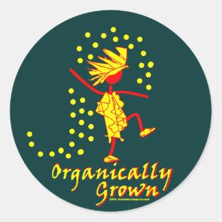 Camisetas y regalos orgánico crecidos pegatinas redondas