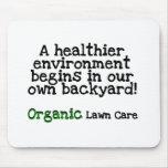 Camisetas y regalos orgánicos del cuidado del césp tapetes de ratón