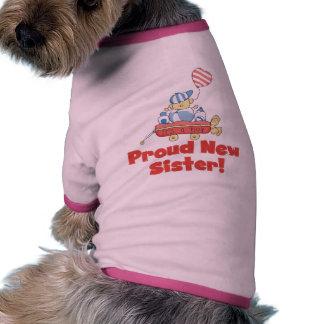 Camisetas y regalos orgullosos de la hermana del c camiseta con mangas para perro