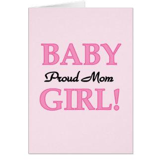 Camisetas y regalos orgullosos de la niña de la ma tarjeta de felicitación