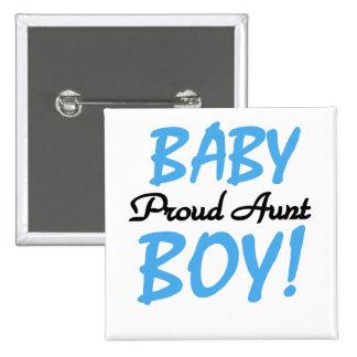Camisetas y regalos orgullosos de la tía bebé pin cuadrado