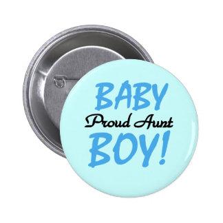 Camisetas y regalos orgullosos de la tía bebé pin redondo de 2 pulgadas