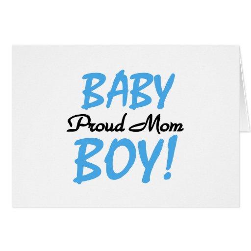 Camisetas y regalos orgullosos del bebé de la mamá tarjeta de felicitación