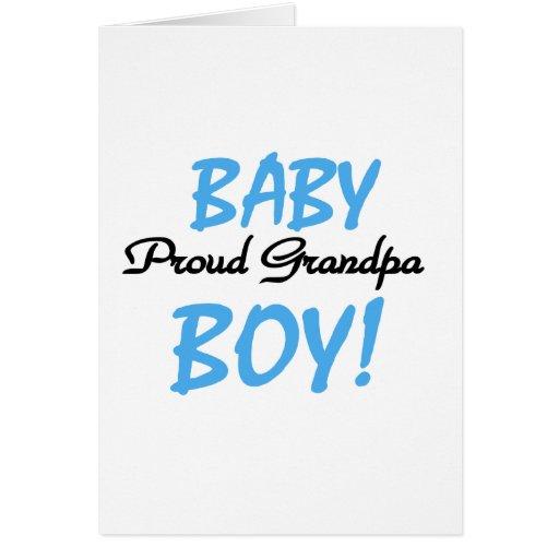 Camisetas y regalos orgullosos del bebé del abuelo tarjeta