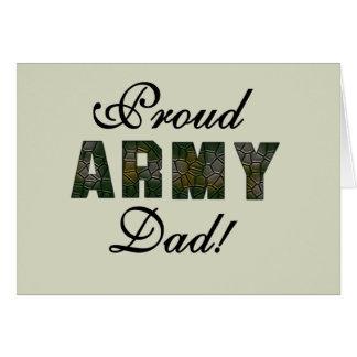Camisetas y regalos orgullosos del papá del ejérci tarjeta de felicitación