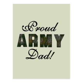 Camisetas y regalos orgullosos del papá del tarjeta postal
