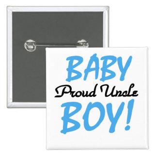 Camisetas y regalos orgullosos del tío bebé pin cuadrado