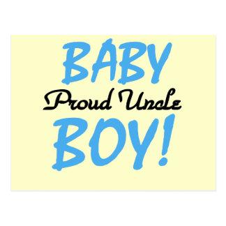 Camisetas y regalos orgullosos del tío bebé postal