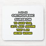 Camisetas y regalos ortopédicos divertidos del cir tapete de ratón