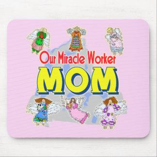 Camisetas y regalos para la mamá del milagro alfombrilla de ratones