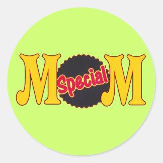 Camisetas y regalos para la mamá especial pegatina redonda