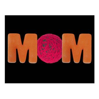 Camisetas y regalos para la mamá que hace punto tarjeta postal