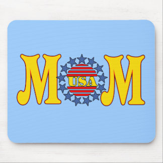 Camisetas y regalos patrióticos para la mamá tapetes de ratón