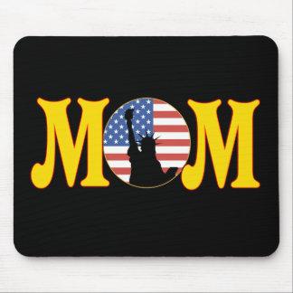 Camisetas y regalos patrióticos para la mamá alfombrillas de ratón
