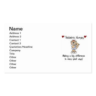 Camisetas y regalos pediátricos de las enfermeras  tarjetas de visita