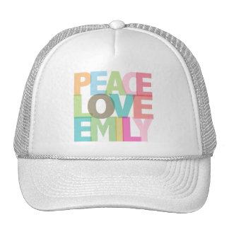 Camisetas y regalos personalizados Emily del amor Gorros Bordados
