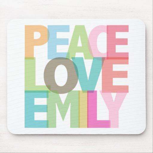 Camisetas y regalos personalizados Emily del amor  Alfombrilla De Raton