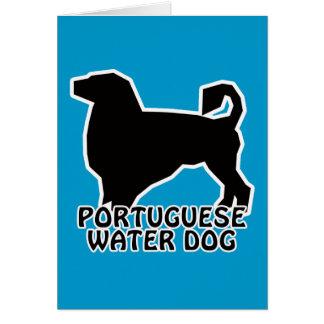 Camisetas y regalos portugueses del perro de agua tarjeta de felicitación