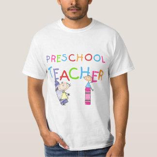 Camisetas y regalos preescolares del profesor de camisas