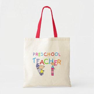 Camisetas y regalos preescolares del profesor de l bolsa tela barata