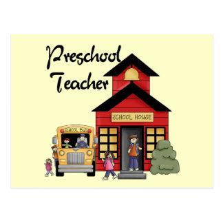 Camisetas y regalos preescolares del profesor de l tarjetas postales
