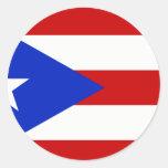 Camisetas y regalos puertorriqueños de la bandera pegatina redonda