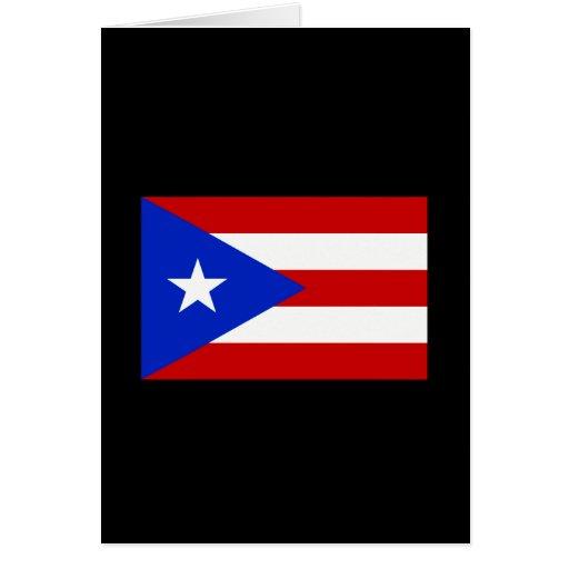 Camisetas y regalos puertorriqueños de la bandera tarjeta de felicitación